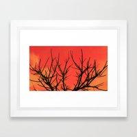 Fire Branch Framed Art Print