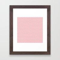 Pink Pattern Framed Art Print