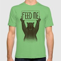 Feed Me Bear Mens Fitted Tee Grass SMALL