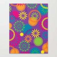 Spikeyflower Purple Canvas Print