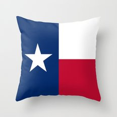 Texas state flag -High Quality Authentic Version Throw Pillow