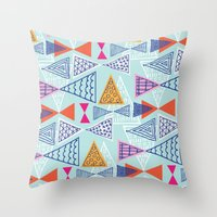 Geometric Mid Century Mo… Throw Pillow