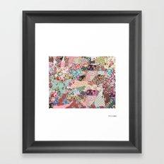 Wyoming map Framed Art Print