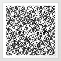 Chinese/Waves Art Print
