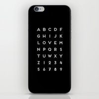 Letter Love - Black iPhone & iPod Skin