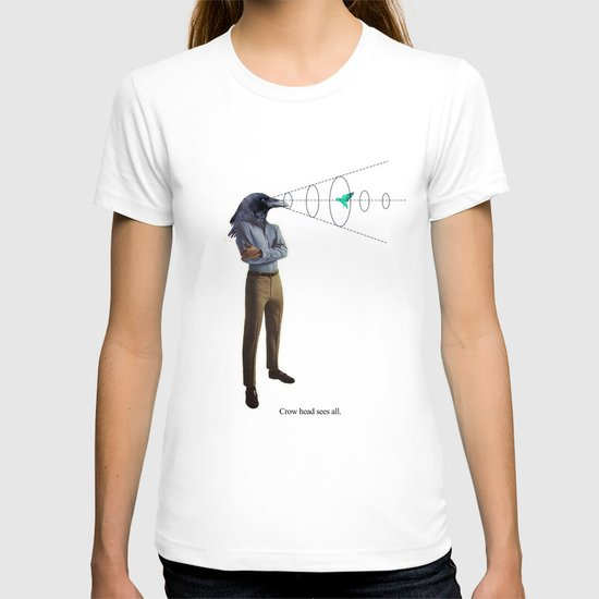 crow head sees all T-shirt