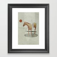 Take The Money And Run Framed Art Print