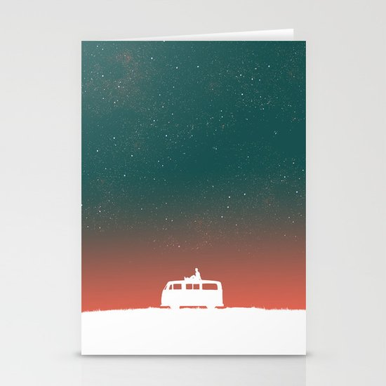 Quiet Night - starry sky Stationery Card