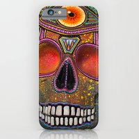 iPhone & iPod Case featuring Upoko Skull by Livi Po