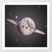 Space Sparrows Art Print