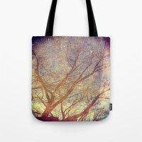 Galaxy + Nature Reflection Tote Bag