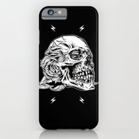 iPhone & iPod Case featuring Skullflower Black and White  by Brian Yap