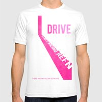 Drive. Mens Fitted Tee White SMALL