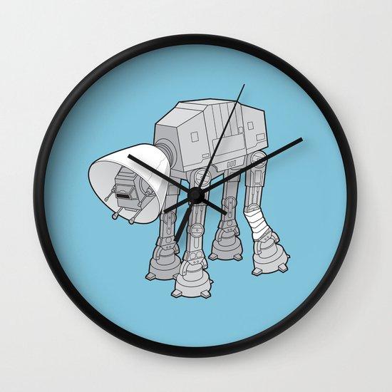 Battle Damage Wall Clock
