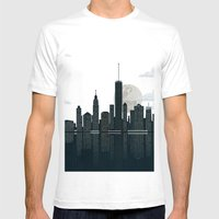 New York City Mens Fitted Tee White SMALL
