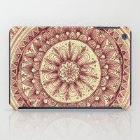 mandala: maroon iPad Case