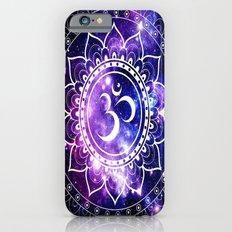 om mandala: purple blue space iPhone 6 Slim Case