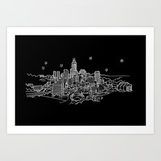 Indianapolis, Indiana City Skyline Art Print