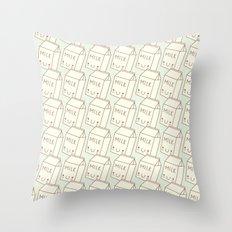 Cute Milk! Throw Pillow