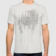 Zenobia Mens Fitted Tee Silver SMALL