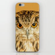 iPhone & iPod Skin featuring OWL RIGHT ON THE NIGHT by Catspaws