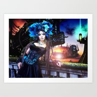 Art Print featuring Stars Get In Your Eyes by David Tanimura
