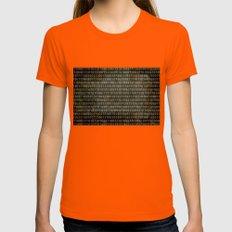 The Binary Code - Retro … Womens Fitted Tee Orange SMALL