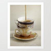 Tea Spill Art Print
