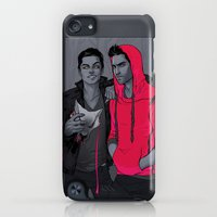 iPod Touch Cases featuring Little Red has Pointy Teeth by Daunt