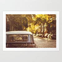 Autumn streets Art Print