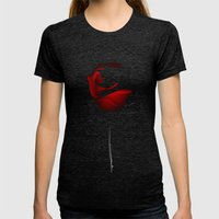 Beauty and the Beast Womens Fitted Tee Tri-Black SMALL