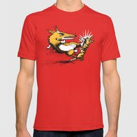 Evil Corgi #1 Mens Fitted Tee Red SMALL