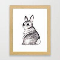 Ballpoint Bunny Framed Art Print