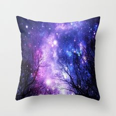 Black Trees Purple Blue … Throw Pillow