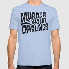 Murder Your Darlings Mens Fitted Tee Tri-Blue SMALL