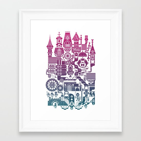 Castle Mama Framed Art Print