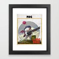 Retro Big Boss Promo  Framed Art Print