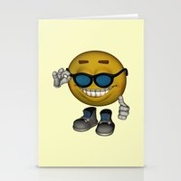 Hot Emoticon  Stationery Cards