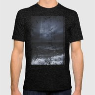 Lost In The Sea Mens Fitted Tee Tri-Black SMALL