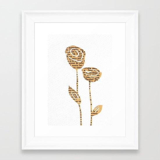 PAPERCUT FLOWER 5 Framed Art Print