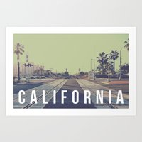 California On the Tracks Art Print