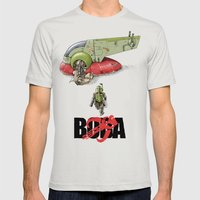BobAkira Mens Fitted Tee Silver SMALL