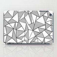 Abstraction Lines Black on White iPad Case