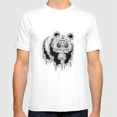 Choked Panda SMALL White Mens Fitted Tee
