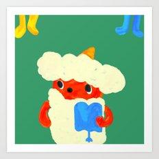 Baby demon (Japanese baby demon) Art Print