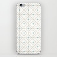 Mint Diamonds iPhone & iPod Skin