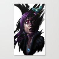 Raven Queen Canvas Print