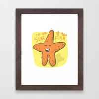 I'm One Of Them Starfish Framed Art Print