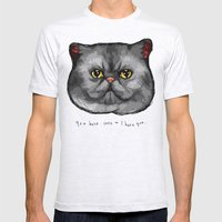 YOU HATE CATS = I HATE YOU. Mens Fitted Tee Ash Grey SMALL