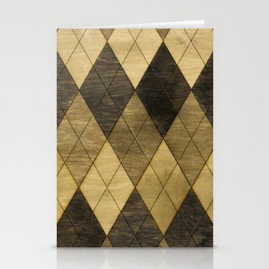Wooden big diamond Stationery Card